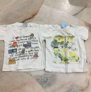 T shirt 2 Set 2-4yrs