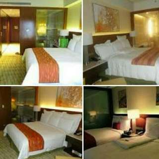 Feb 4 And Feb 13 Marriott West Wing 2 Beds With Bath Tub With Buffet