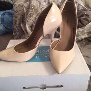 SPRING nude high heels (BNIB) SIZE 9