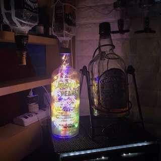 Absolut Vodka bottle lamp