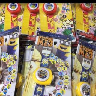 Goody bag - projector watch minions
