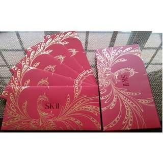 5 pcs SKII Luxurious Red Packet / Ang Bao Pao Pau Pow / Sampul Duit