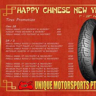Tyres pair from $90 onwards