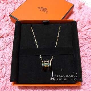 Hermes POP H Necklace 頸鏈 Earrings 黑 金
