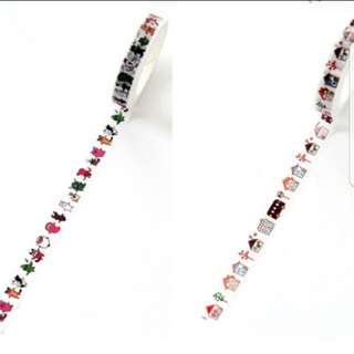 (3 for $5.5)Pattern Washi Tape series 3