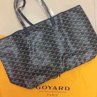 Goyard Saint Louis Tote Bag PM Size Navy (Blue Marine)
