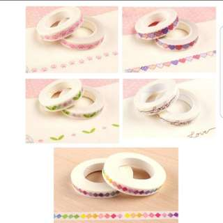 (3 for $5.50) Pattern Washi Tape