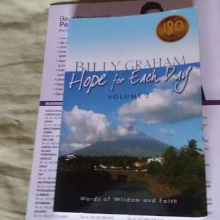 Billy Graham Book.. Hope for each Day.