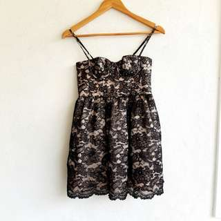 Victorias Secret Lacey Black Corsette Dress