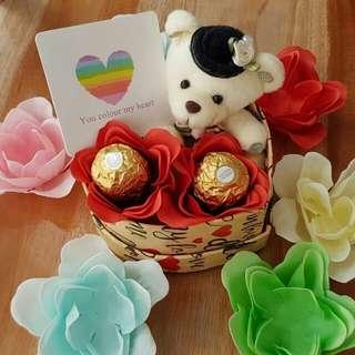 Kado/Hadiah/Hampers/Bunga/Coklat/Boneka Valentine - Double Choco in Box