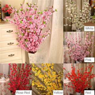 65cm Artificial Cherry Spring Plum Peach Blossom