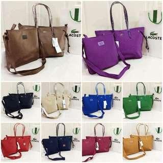 Lacoste Shoulder bag w/bodybag 2in1