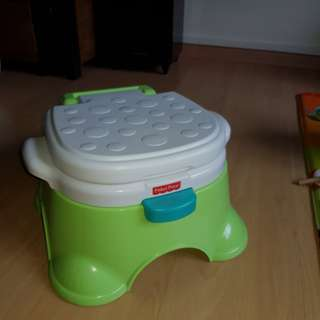 FISHER PRICE ROYAL STEPSTOOL POTTY, used a few times only