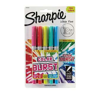 SALE! BRAND NEW Sharpie Color Burst Permanent Markers, Fine Point, Assorted, 5-Pack