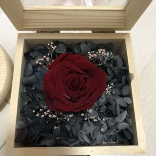 Eternal Rose in Wooden Box