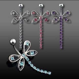 Ready Stock Butterfly Dangling Navel Stud