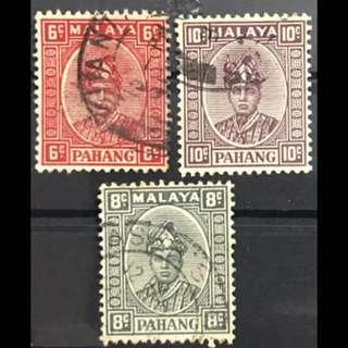 Malaya Pahang Sultan 3v used
