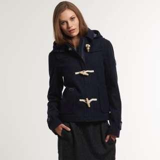 Superdry Cropped Duffle Coat jacket 極度乾燥加厚連帽毛呢外套
