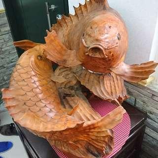 《如魚得水》精緻木雕