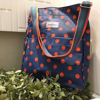 [100% AUTHENTIC] Cath Kidston Blue Colour Red Polka Dots Branded Sling Bag