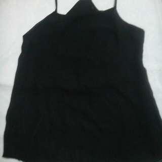 Black cami top sheer fabric