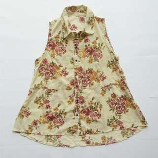 Chiffon Flower Top