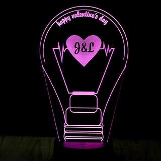 """You light up my life"" Bedside Lamp Night Light"