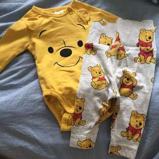 Winnie the poo onesie and joggers