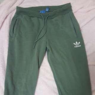 Adidas green joggers