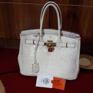 Tas Hermes snake white Limited edition