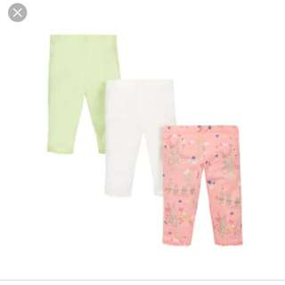Brand New Mothercare Leggings 3 pack size 12-18 months
