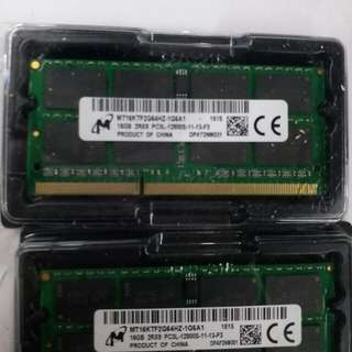 RAM 單條16GB DDR3L NOTEBOOK SODIMM