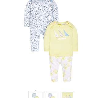Brand New Mothercare Pretty Geese Pyjamas size 9-12 months