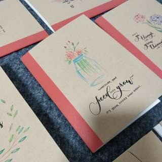 Watercolour Flower Calligraphy Notebook