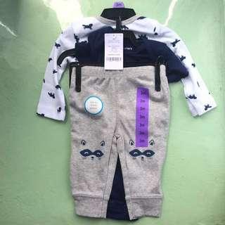 Set of 2 onsies & 1 long pants (3m babies)
