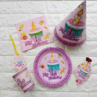 Party Supplies: My 1st Birthday Party Set
