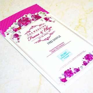 Blanko undangan pernikahan khitan