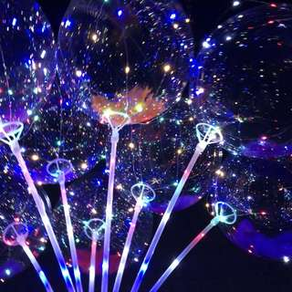 bubble Led light balloon party valentines gift idea