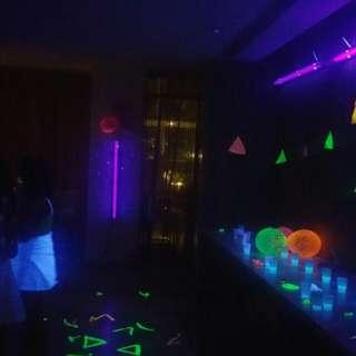 UV Fluorescent Bar Blacklight set