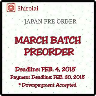 PREORDERS FOR MARCH BATCH JPOP HEY SAY JUMP ARASHI ONE OK ROCK NEWS SCANDAL