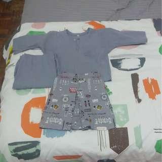 Set Baju Melayu siap sampin size 1