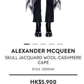 Alexander Mcqueen披肩