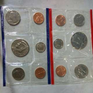 USA set coins 1991