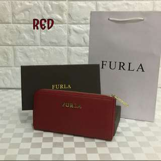 FURLA Zippy Red Wallet
