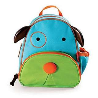 Skip hop zoo inspired little kid backpack dog