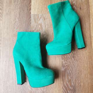 Women's Emerald Green Ankle Boots
