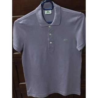 Lacoste AUTH mens classic pique polo shirt purple size 3