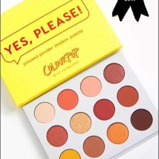 colourpop yes please Pressed Powder Shadow Palette卡拉泡泡日落盘眼影盘