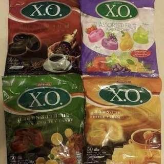 🚚 X.O硬糖(110g) 咖啡/綜合水果/檸檬紅茶/奶茶,1包90元