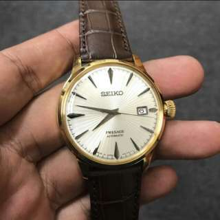Seiko Presage Cocktail Automatic Watch SRPB44J1 Gold Case Brand New